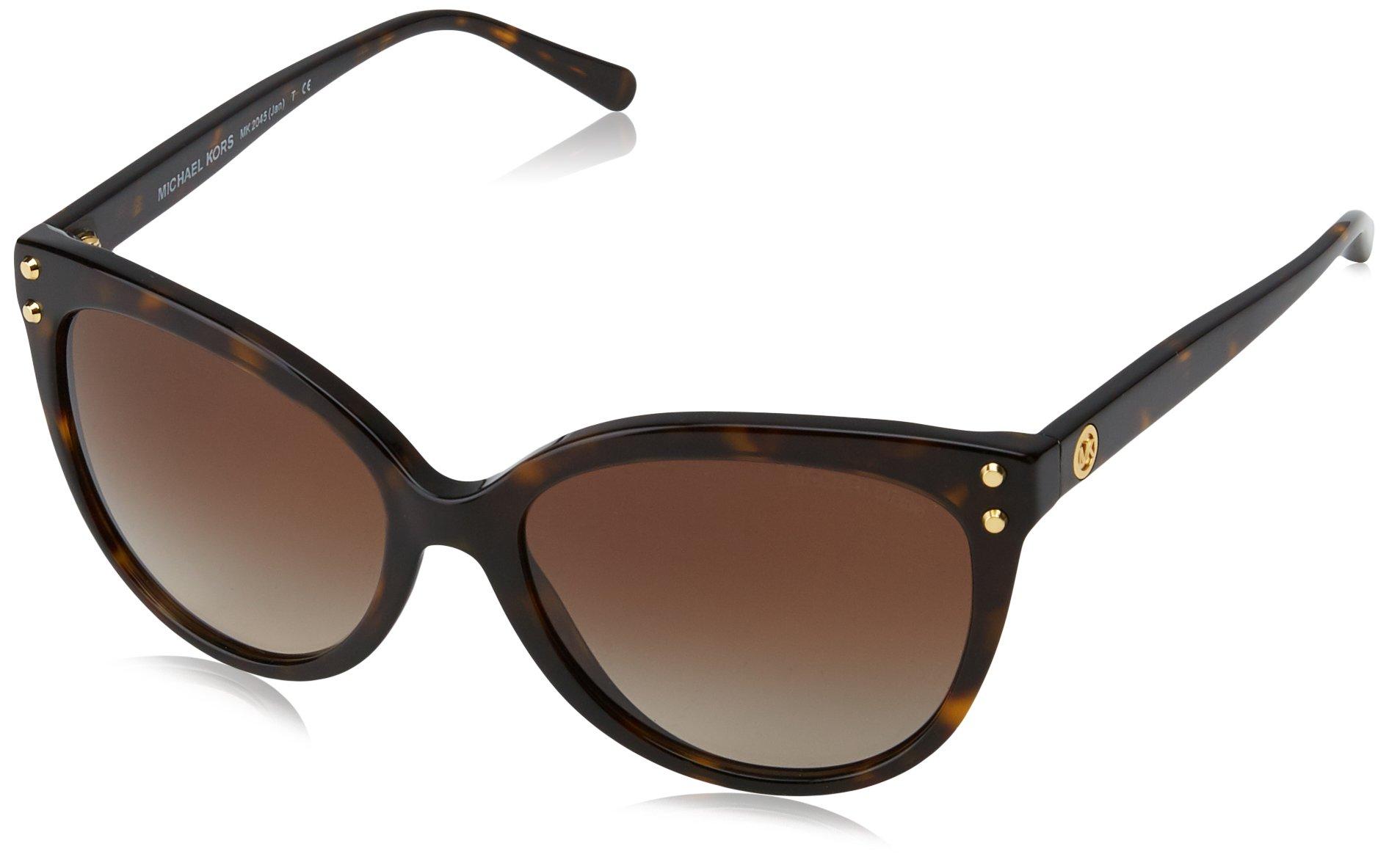 Michael Kors Women's Jan MK2045 55mm Dark Tortoise Acetate/Brown Gradient Sunglasses