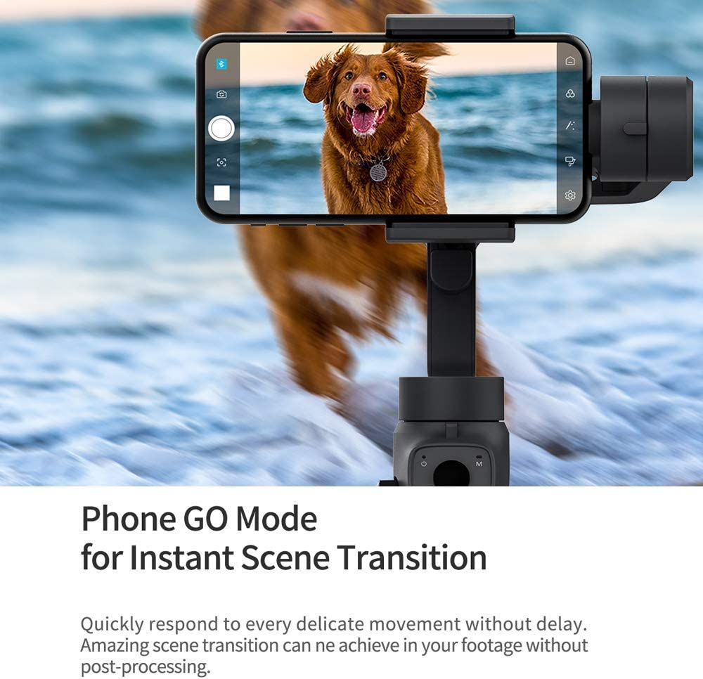 7 Action Camera iOS Andriod Smartphone Noblik Capture 2 3-Axis Handheld Gimbal Stabilizer for 4 5 6