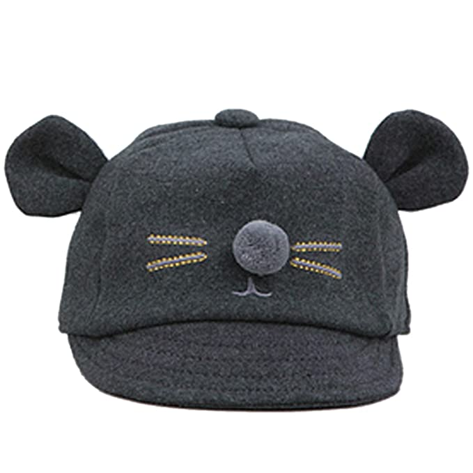 31f305953d8 Belsen Baby Toddler Hat Cats bearded ears Boys Girls Warm Winter Cap (Dark  grey)  Amazon.co.uk  Clothing
