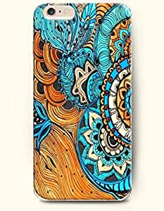 chen-shop design SevenArc Apple iPhone 6 4.7' 4.7 Inches Case Paisley Pattern ( Dark Turquoise Buteh Tree ) high quality
