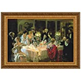 Design Toscano The End of Dinner Canvas Replica Painting: Small
