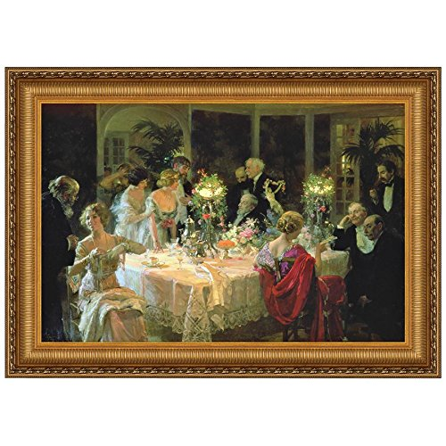Design Toscano The End of Dinner Canvas Replica Painting: Small by Design Toscano