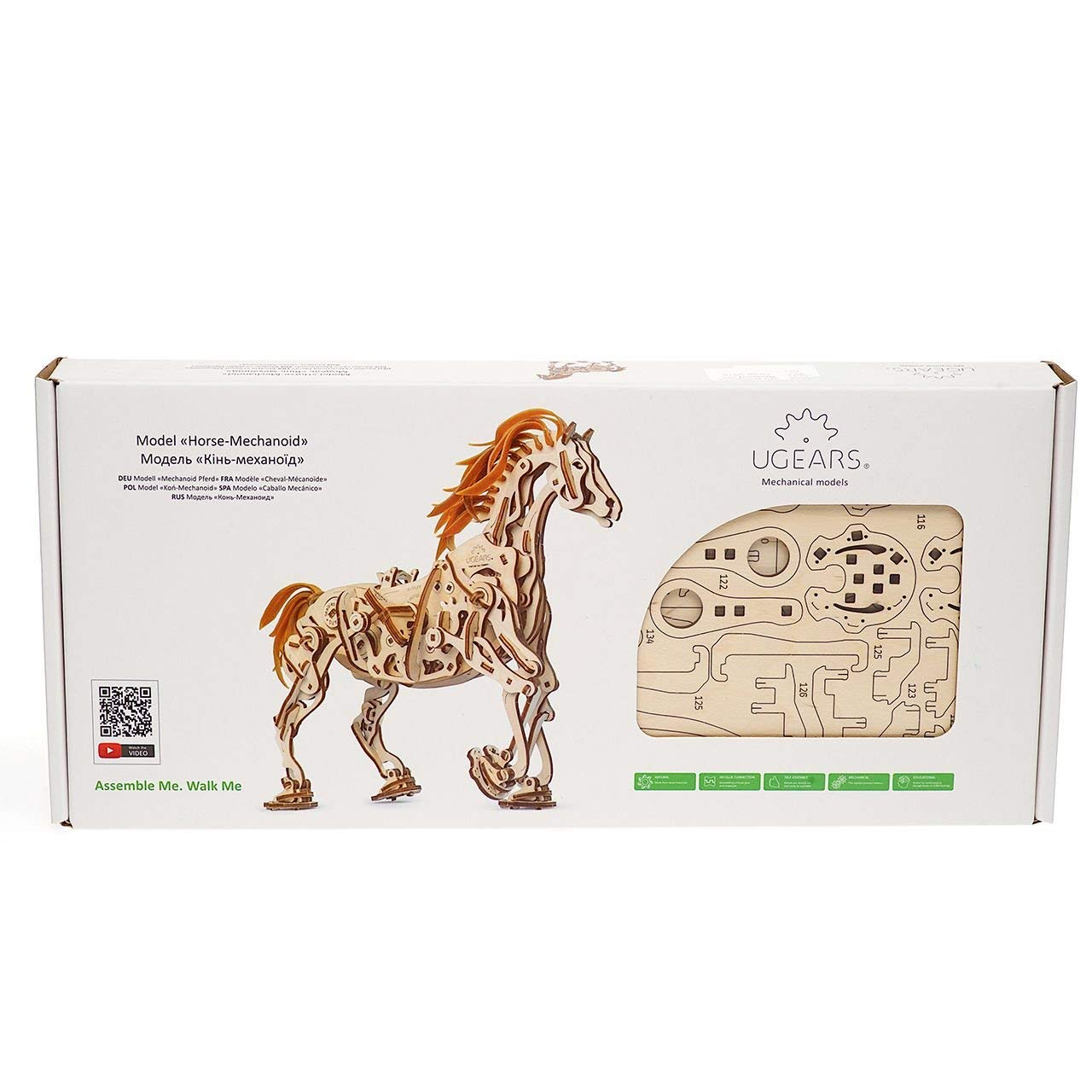 UGears Models 3-D Wooden Puzzle - Mechanical Horse Mechanoid by UGEARS