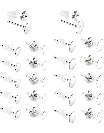 25pairs Earring Backs For Post  Silver Color Earrings Earnut Butterfly Earring Backs Ear Nuts 50pcs