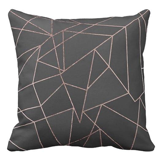 Amazon.com: UTF4C - Funda de almohada de color rosa con ...