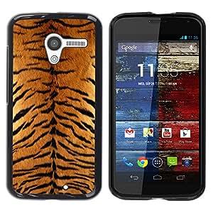 Paccase / SLIM PC / Aliminium Casa Carcasa Funda Case Cover para - Tiger Furry Pattern Animal Wild Big Cat - Motorola Moto X 1 1st GEN I XT1058 XT1053 XT1052 XT1056 XT1060 XT1055