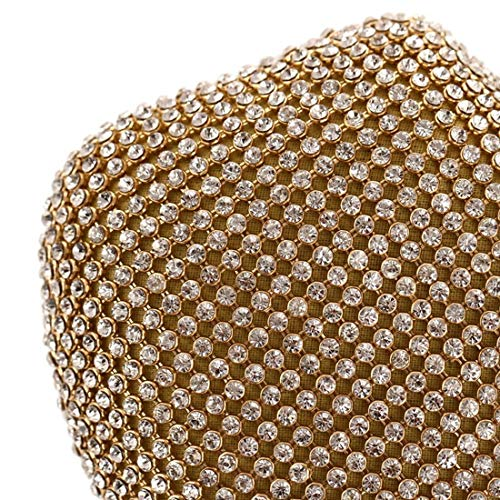 Diamonds Women's Purse Gold Clutch JESSIEKERVIN Silver Evening Handbag Black Gold Bag Wallet Party qzwSBxd