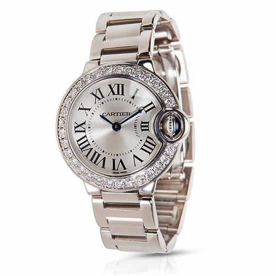Cartier Ballon Bleu WE9003Z3 Reloj de Pulsera para Mujer en 18 K Oro Blanco (Certificado) de Segunda Mano: Cartier: Amazon.es: Relojes
