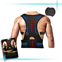 Back Brace Posture Corrector,Magnetic Therapy Improves Posture and Provides Lumbar Support for Lower and Upper Back Pain with Adjustable Soft Elastic Shoulder Straps Men and Women (L)