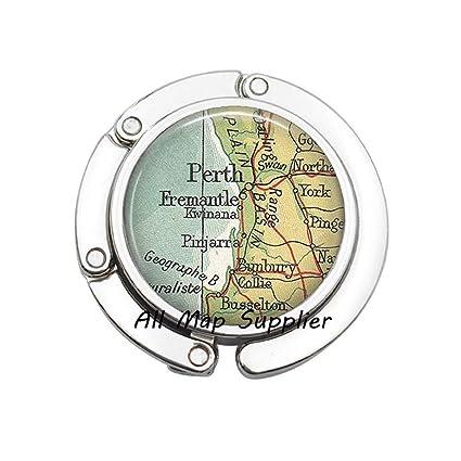 Map Perth Australia.Amazon Com Charming Purse Hook Perth Map Bag Hook Perth Australia