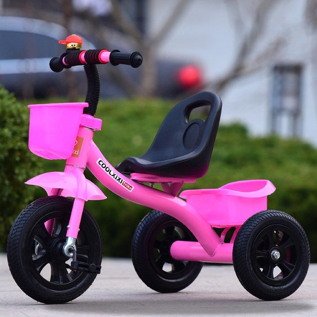 Kinder Fahrrad Klapprad 2-6 Jahre alt, Kinderwagen, Rosa, mit Hand Push Rod  Inflatable wheel without pÃle
