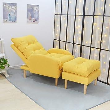 XINGPING Modern Minimalist Sofa Lazy Bedroom Girl Balcony Small Sofa Chair  Personality Creative Single Leisure Folding