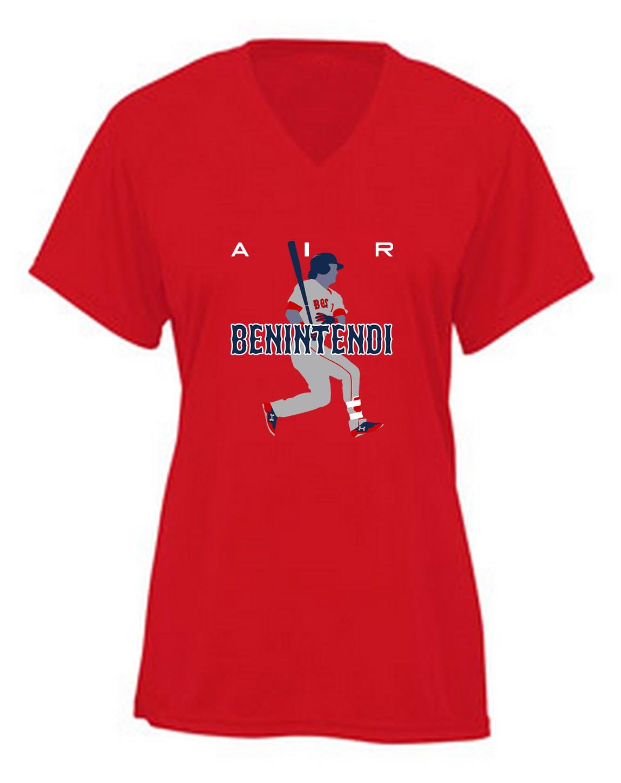 Red Boston Benintendi Air Pic Vneck Shirts