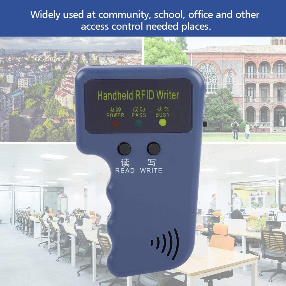 Tangxi RFID Reader 125KHz EM4100 Portable Handheld RFID ID Card Copier Reader//Writer Duplicator+Keyfob