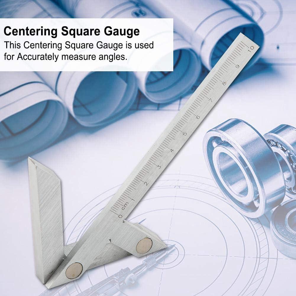 2.8 inch 45//90 Degree Right Angle Line Gauge Center Finder Gauge Ruler 3.9