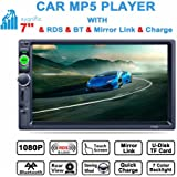 SYGNIFIC 7-inch HD DIN Car MP5 and MP3 Player with Bluetooth, USB, Touch Screen and Stereo Radio(Black)