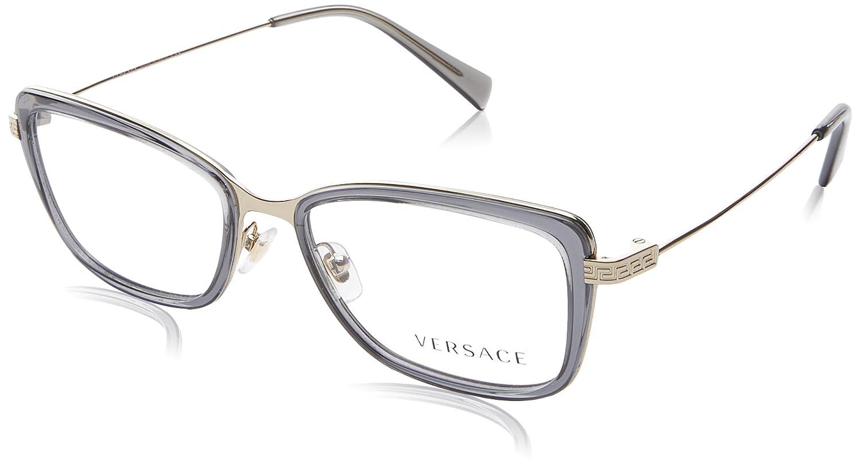 New Versace VE 1218 1345/ Gold Frame Men Women Oval Metal Eyeglasses ...