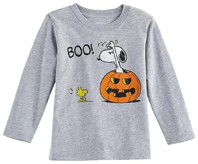 7d4c1c960cd919 Image Unavailable. Image not available for. Color  Jumping Beans Peanuts  Snoopy   Woodstock  Boo!  Halloween Graphic Tshirt ...