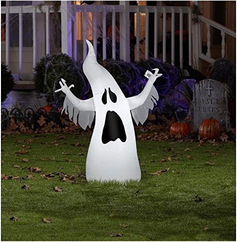Gemmy Halloween Airblown Draped Ghost 3.5ft ()