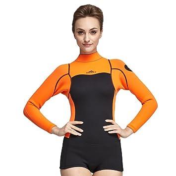 Amazon.com: Traje de neopreno para mujer de 0.079 in, traje ...