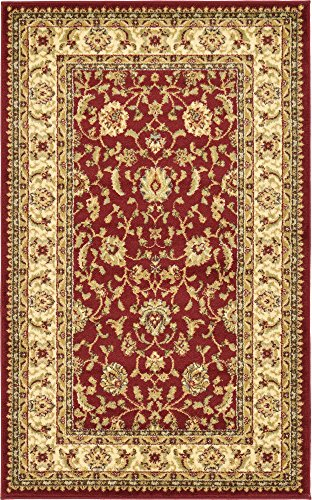 Unique Loom Voyage Collection Traditional Oriental Classic Red Area Rug (3' x ()
