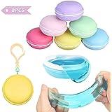 FUNTOK Macarons Slime 8 pezzi Colorful Magica Argilla Squishy Slime stress relief giocattoli per bambini Il miglior regalo(Macarons Slime)