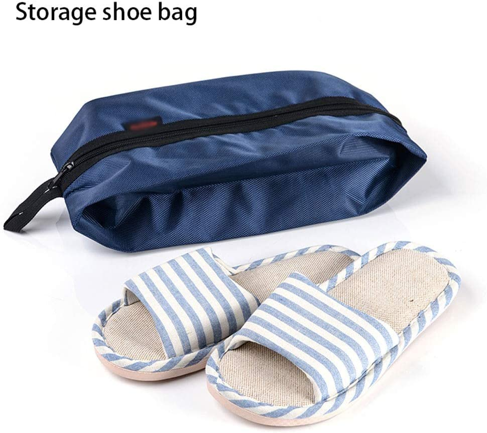 Shoe rack Cabinet Shelf Sundries Bag Outdoor Travel Goods Shoes Storage Bags Handbags Sports Shoes Bags 1637cm Color : Blue