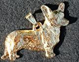 Cardigan Welsh Corgi Dog 24k Gold Plated Pewter Pendant USA Made