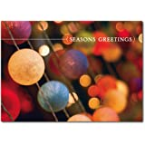 Christmas Holiday Greeting Card H7048. Created for businesses or multiple senders to wish a joyous holiday and Happy New Year. Red foil-lined envelopes.