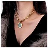 Olbye Medallion Pendant Necklace Gold Medallion