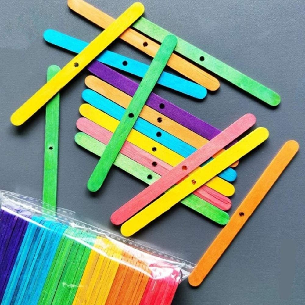 Mixed Color 120 Pieces Wooden Candle Wick Bars Wick Clips for Candles Candle Wicks Making Accessories Candle Centering Tool for Candle Making DIY Crafts Candle Wick Holders
