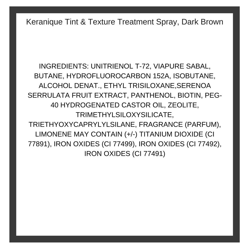Keranique Tint & Texture, Color Density Treatment, 3.7 Fl Oz, Dark Brown - Instant Body, Volume and Lift to Thinning Hair, Helps Reduce Oil and Sebum - Advanced Treatment for Thinning Hair by Keranique