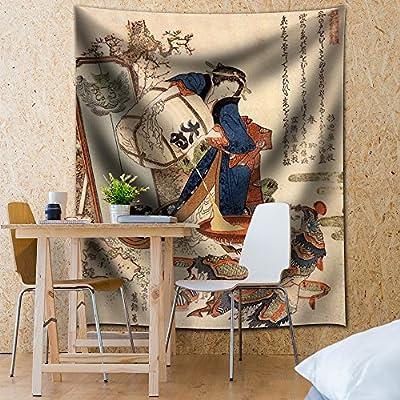 Katsushika Hokusai The Strong Oi Pouring Sake - Tapestry