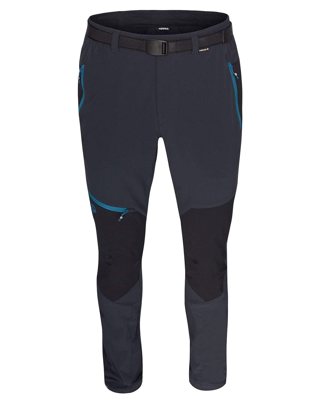 Ternua ® Peak Pantalón, Hombre, Gris (Whales Grey) / Negro, L