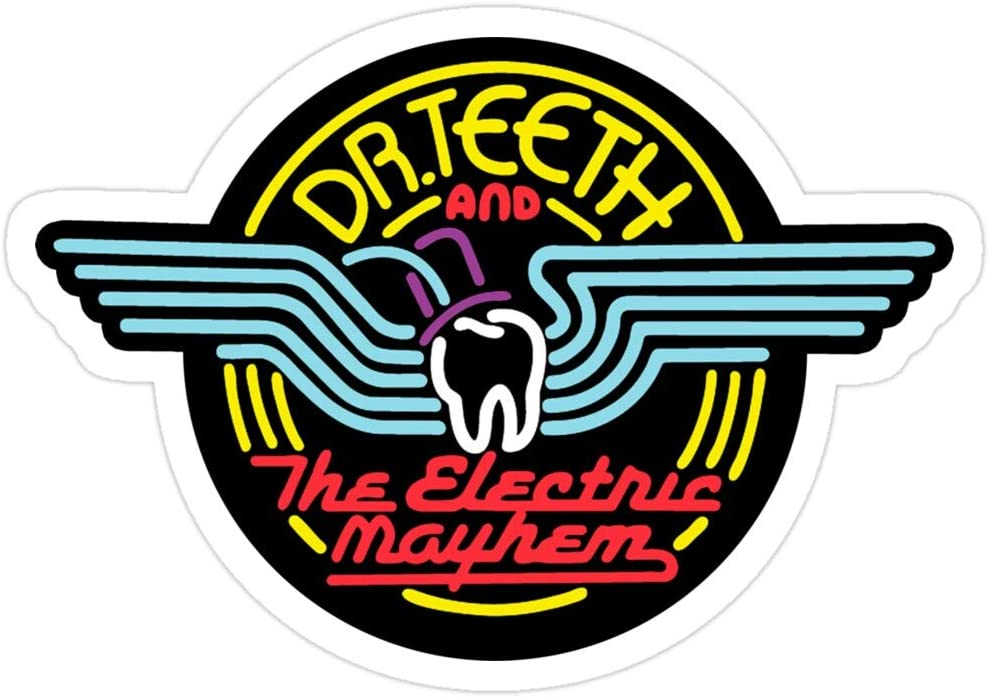 Jess-Sha Store 3 PCs Stickers Dr.Teeth and The Electric Mayhem - Color, Stickers Sticker for Laptop, Phone, Cars, Vinyl Funny Stickers Decal for Laptops, Guitar, Fridge