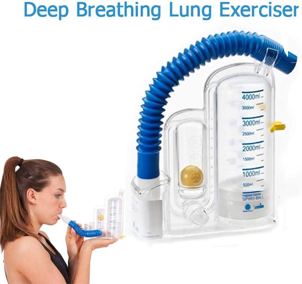 WSN Ejercitador De Respiración Profunda 4000 Ejercitador Volumétrico, Entrenador De Respiración Entraînement Des Muscles Respiratoires Entrenadores De Respiración