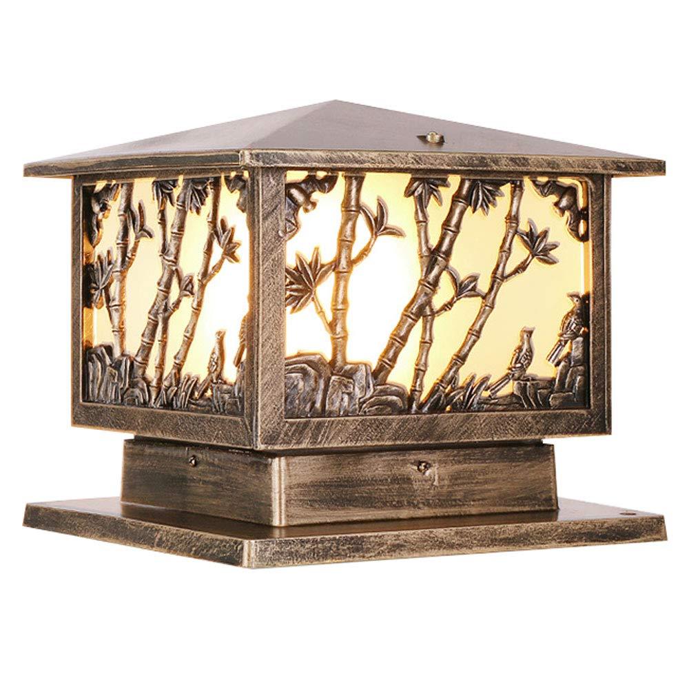 Column Headlights, Doorpost Lights, Garden Lights, Wall Lights, Pillar Lights, Door Lights, Outdoor/Waterproof (Color : Bronze 2)