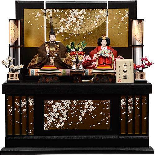 雛人形 親王飾り コンパクト 収納型 No.301-91   B07JF8ZJSR