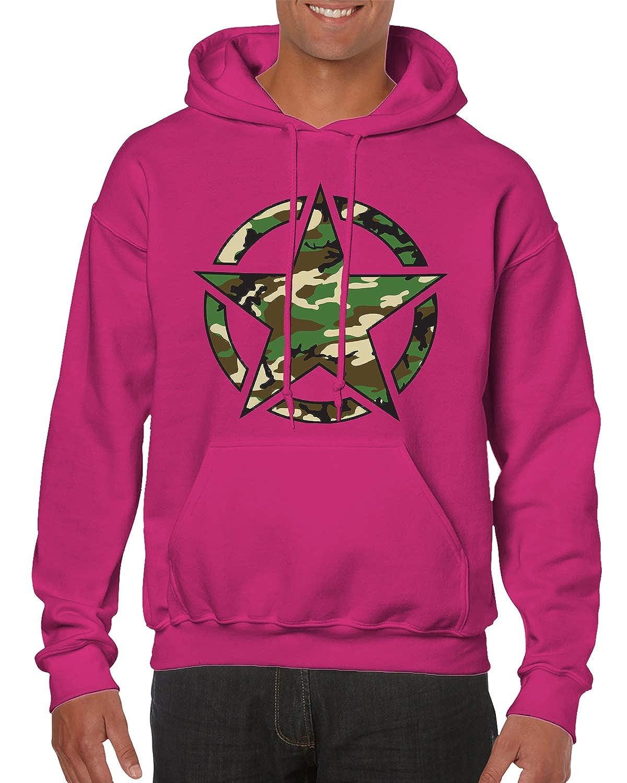SpiritForged Apparel Retro Army Logo Camoflauge Hooded Sweatshirt
