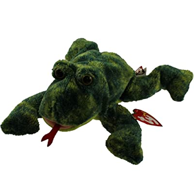 Ty Beanie Baby - CROAKS The Frog: Toys & Games