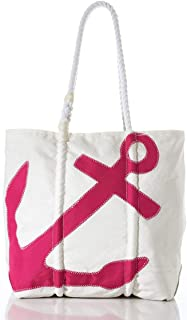 product image for Sea Bags Recycled Sail Cloth Fuchsia Anchor Diaper Bag