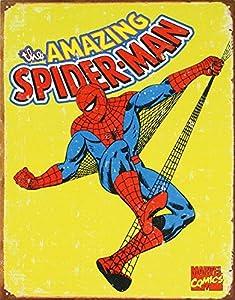 Amazon.com: Spiderman Retro Tin Metal Sign: Home & Kitchen