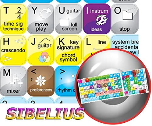 NEW SIBELIUS KEYBOARD STICKERS