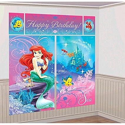 Amazon.com: Disney Ariel Little Mermaid Fiesta de cumpleaños ...