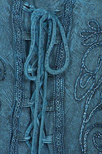 Turquoise Sundara Brod Robe Dlave Mi Longue Rayonne Sakkas f1aSxf