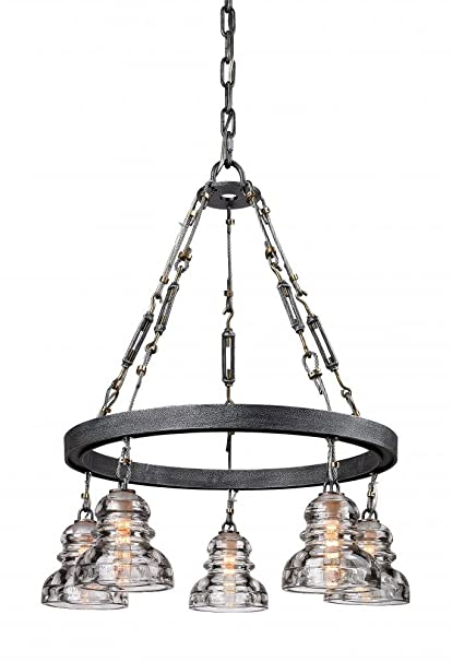 amazon com troy lighting menlo park 25 5 w 5 light pendant old