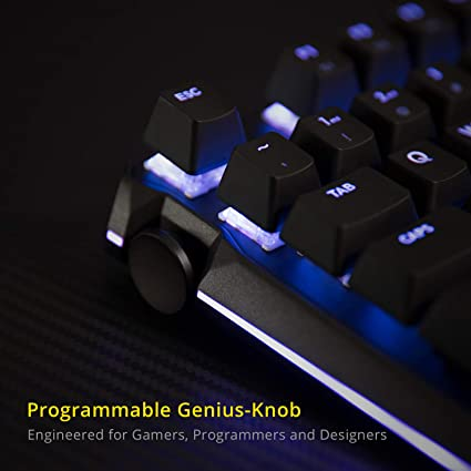 Amazon.com: DREVO BladeMaster TE All Rounder RGB Wired 87 Keys Mechanical Gaming Keyboard with Programmable Genius Knob Gateron Red Switch: Computers & ...