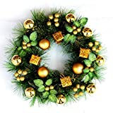 iShine Decorated Christmas Wreath Winter Berry Wreath Versatile Woodsy Winter Wreath Artificial Spruce Holiday Wreath Approved for Covered Outdoor Use Best Gift