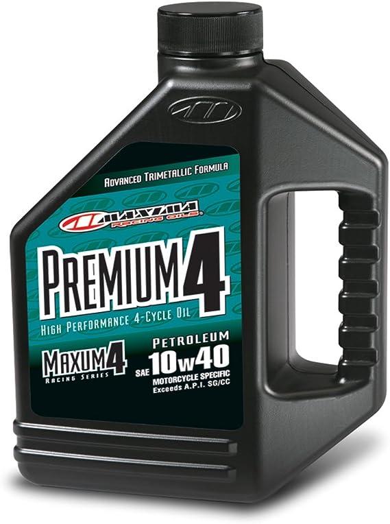 Maxima (349128) Premium4 10W-40 Motorcycle Engine Oil - 1 Gallon Jug