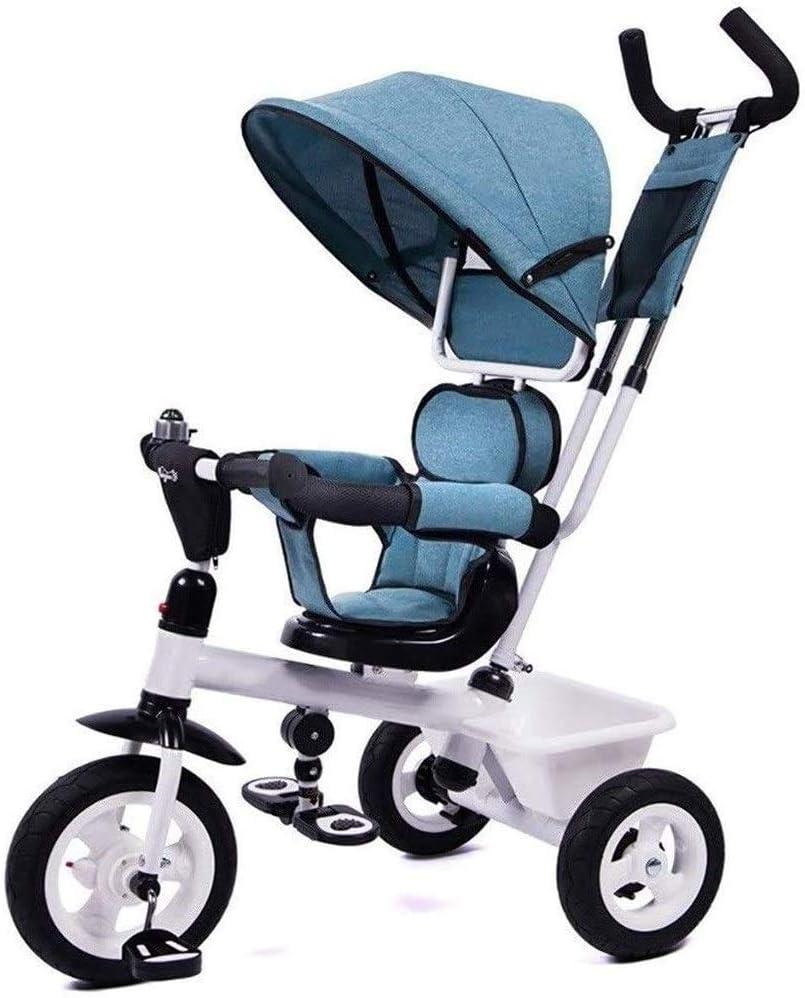 JINHH Portátil Triciclos, Bicicletas De Luz De Seguridad Trike Niños Niños Kid Cochecito Empuje 1/3/6 Años De Edad and Ride Mejor para El Bebé (Color: Morado)